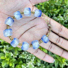Load image into Gallery viewer, (Wholesale) Sky Blue Recycled Glass Bracelet