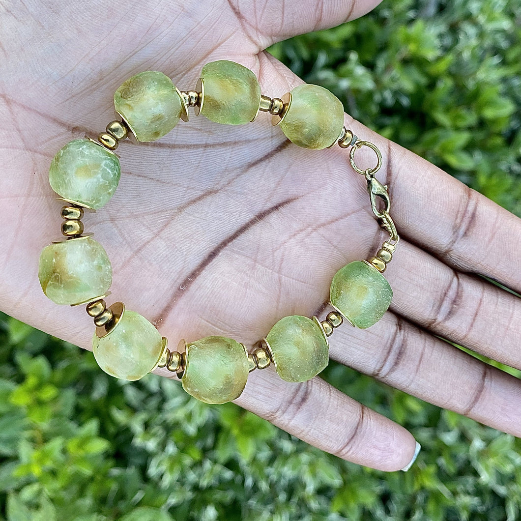 (Wholesale) Earth Recycled Glass Bracelet