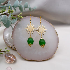 Radiant earring - Fern Green