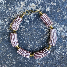 Load image into Gallery viewer, (Wholesale) Pink & Mauve Hand Painted Bracelet