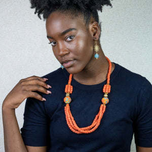 (Wholesale) 'Knot Your Average' necklace - Orange