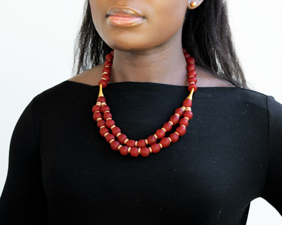 'Rise and Shine' necklace - Red