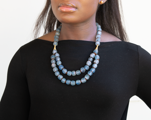 Medium 'Rise and Shine' necklace - Sky Blue