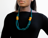 'Knot Your Average' necklace - Teal