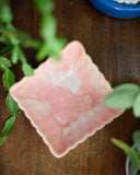 Square Marbled Pink Planter
