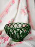 Green Woven Ceramic Biscuit Warmer