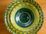 50s Green and Yellow String Bowls