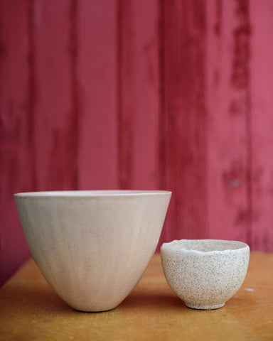 Matte Pink Conical Bowl
