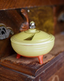 Yellow and Orange Art Deco Candy Dish