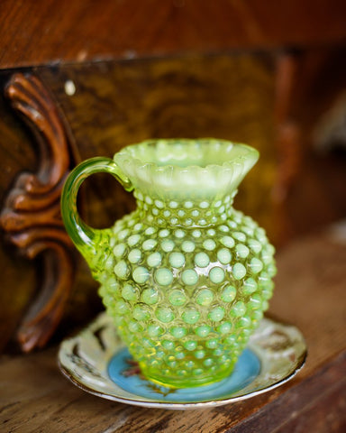 Mini Neon Hobnail pitcher