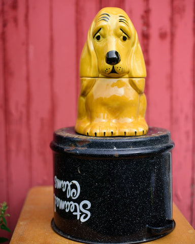 Sad Hound Dog Cookie Jar