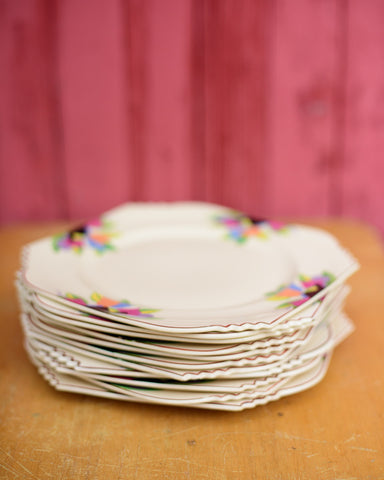Crescent China Co Siena Ware Tulip Dinner Plates