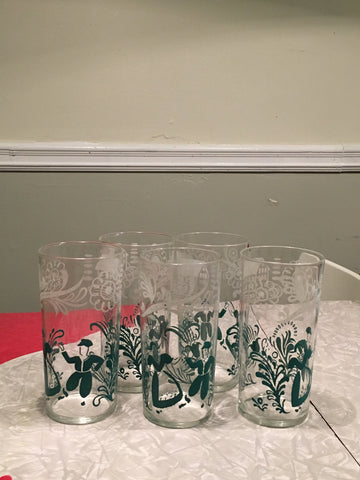 Federal Glass Country Dance Highball Glass Set
