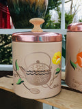 Pink Ransburg Illustrated Enamel Canisters