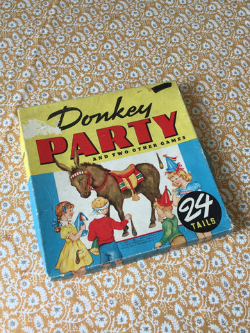 1941 Pin the Tail on the Donkey Party Game