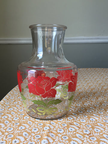 Ombre Anchor Hocking Roses Juice Pitcher