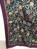 80s 90s Smithsonian Gift Shop Large Silk Scarf