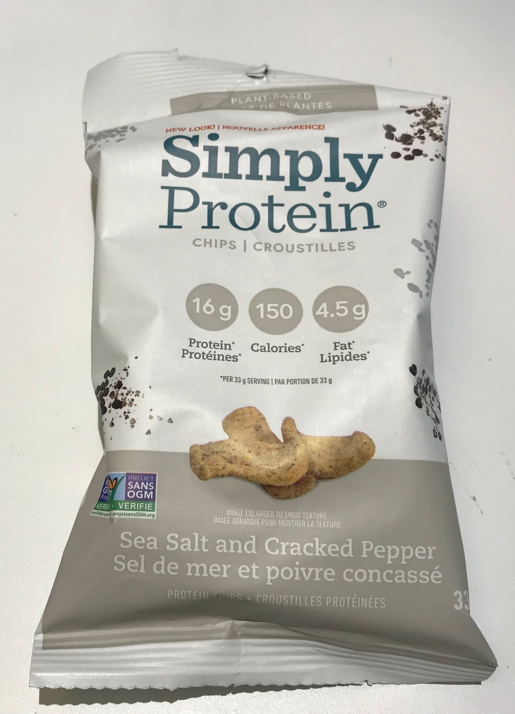 Simply protein chips sea salt and cracked pepper
