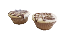 Load image into Gallery viewer, Baking my Sweet Time Plain Mini Cheesecakes with Chocolate Drizzle 2 packs