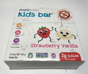 Simply protein kids bar  Strawberry Vanilla