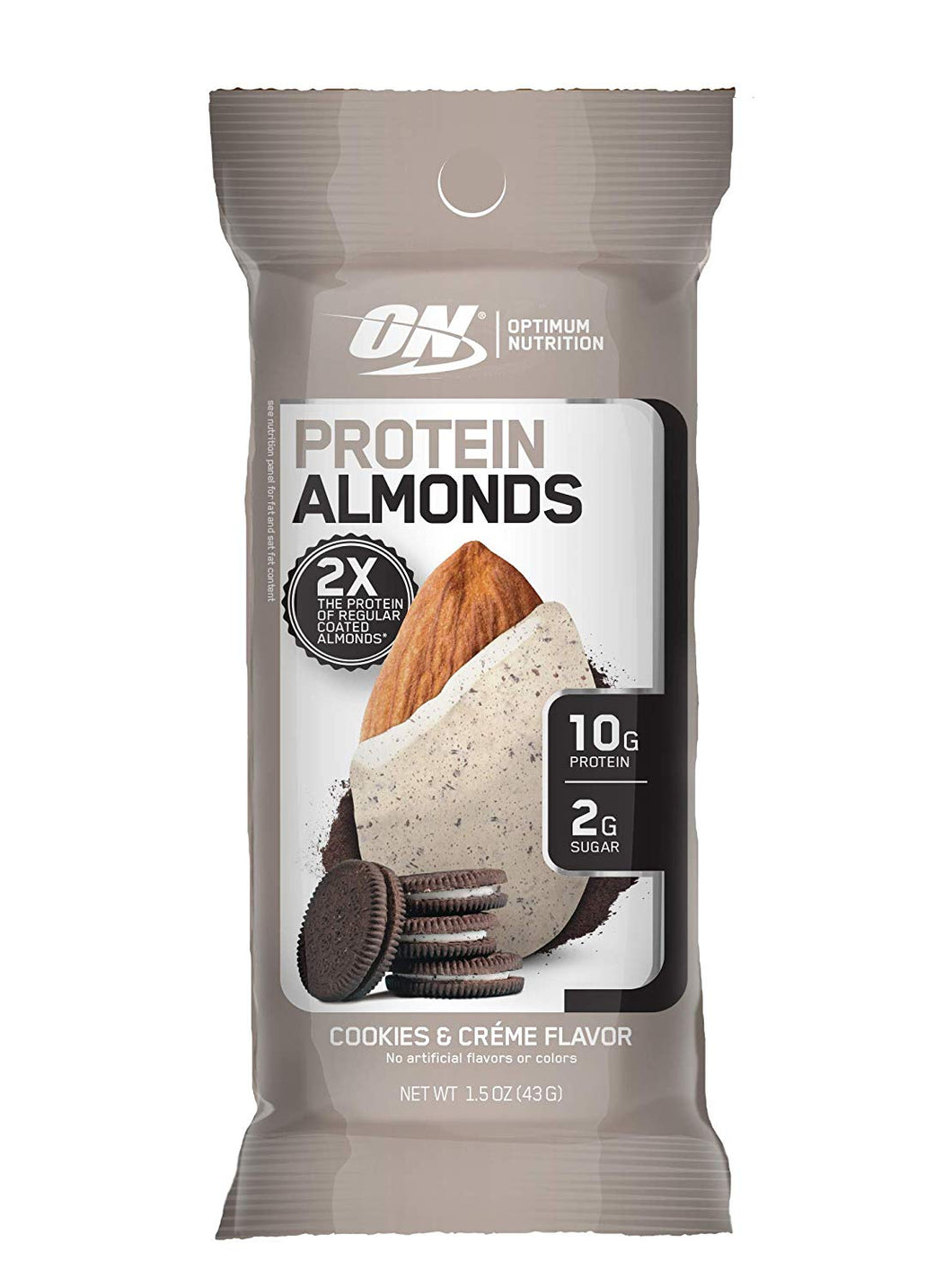 Optimum Nutrition - Protein Almonds - Cookies & Creme Flavour