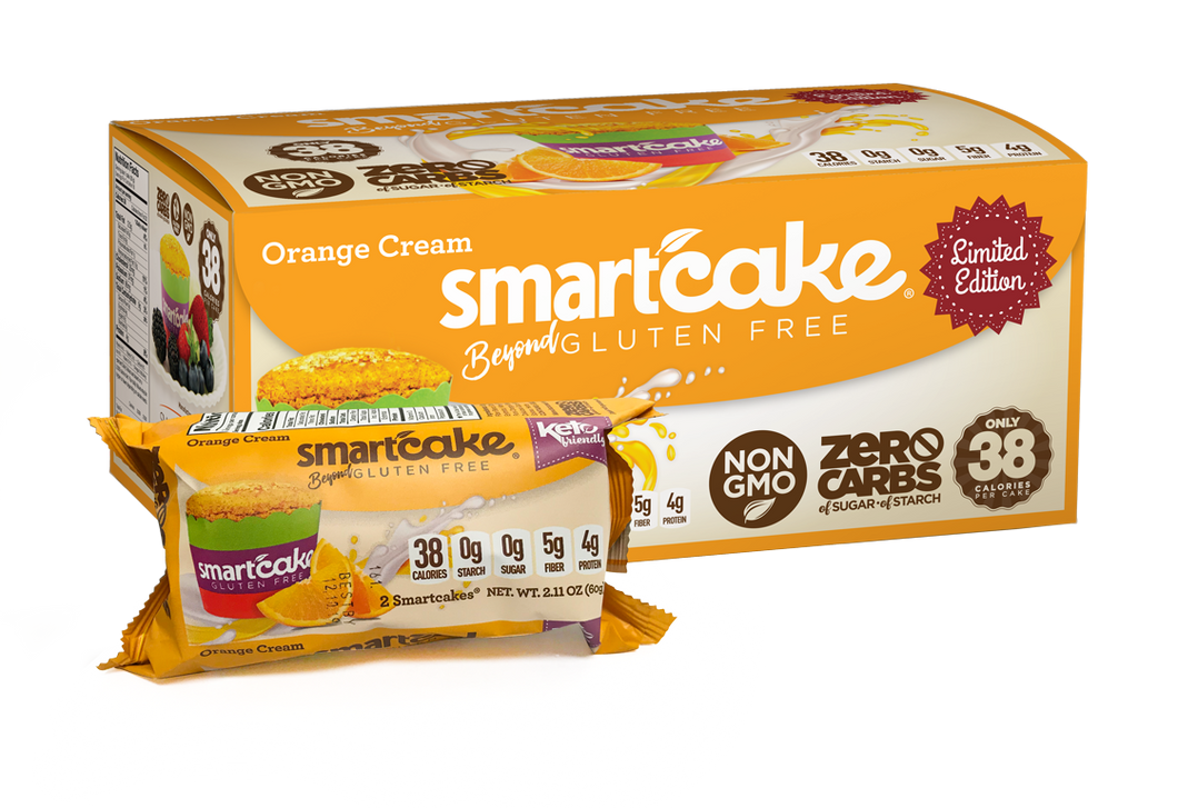 Smart Cakes - Orange cream (seasonal summer item) (2 Cakes - 60g)