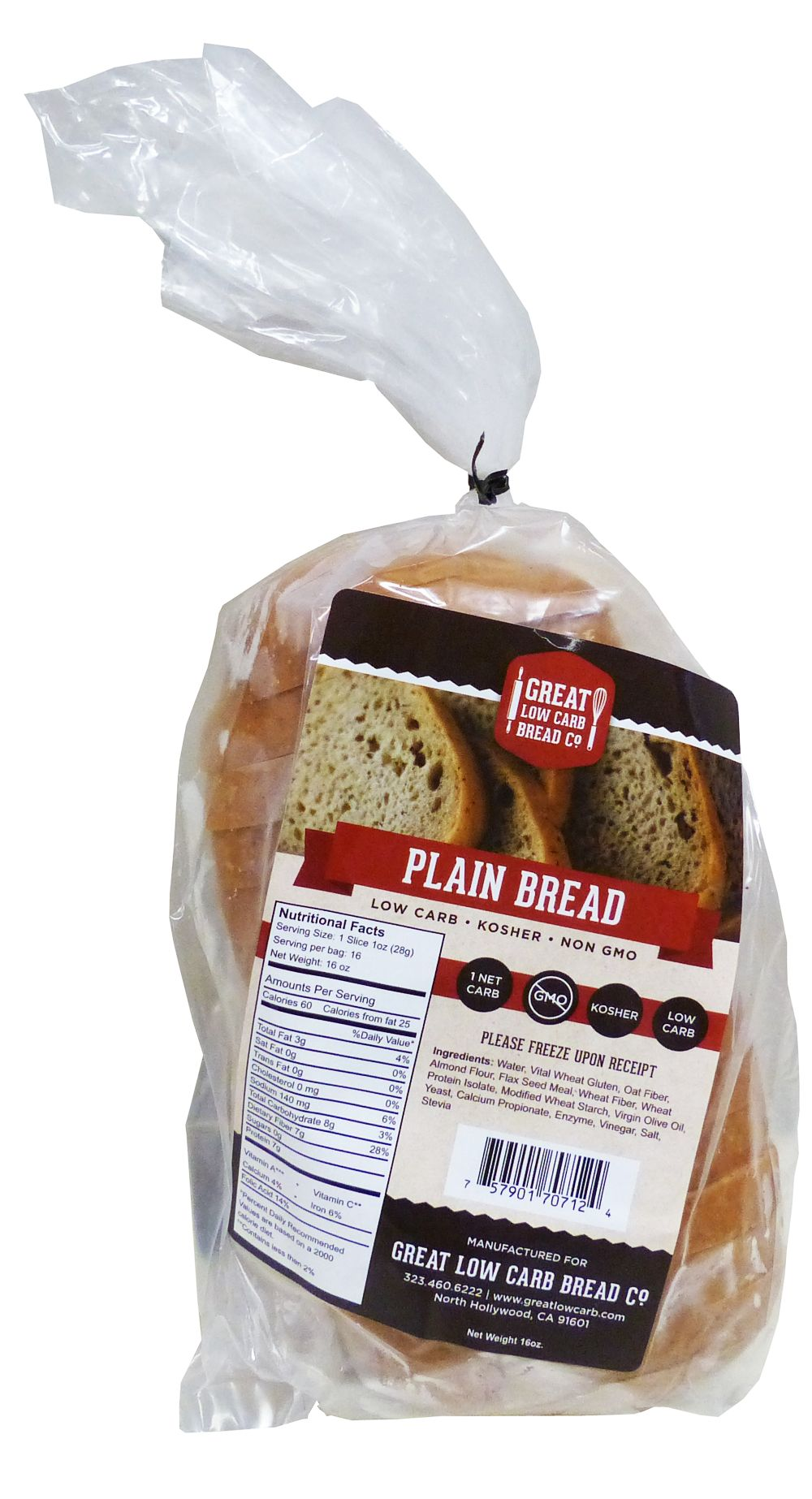 Great Low Carb Bread co. sliced bread