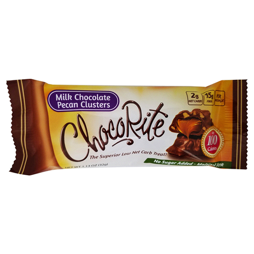 Healthsmart - ChocoRite Snack Bars-  Milk Chocolate Pecan Clusters
