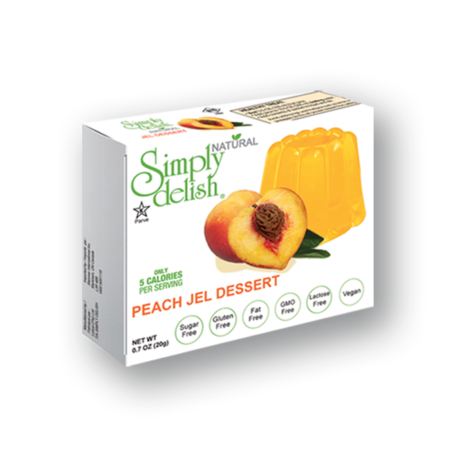 Simply Delish Jello Peach