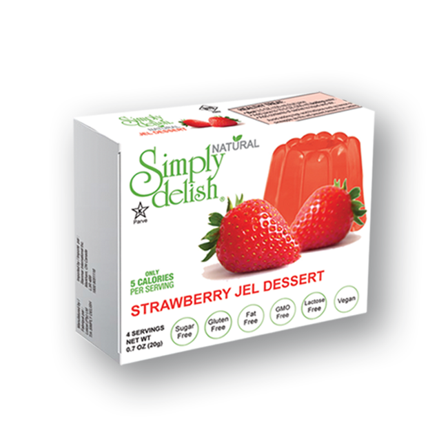 Simply Delish Jello Strawberry