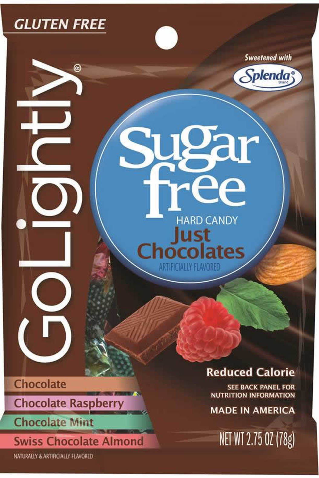 Go lightly sugar free just chocolates