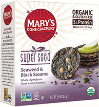 Load image into Gallery viewer, Mary's Organic Crackers - Seaweed & Black Sesame