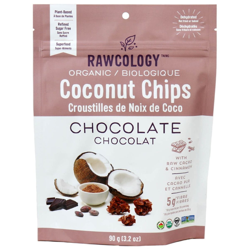 RAWCOLOGY COCONUT CHIPS Chocolate 90g