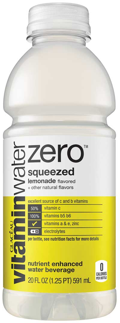 Vitamin Water Zero lemonade