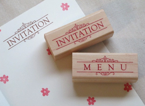 Menü & Invitation Stempel