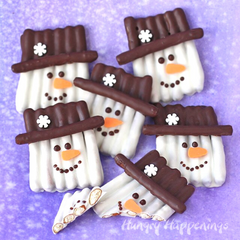 chocolate-pretzel-snowman-craft
