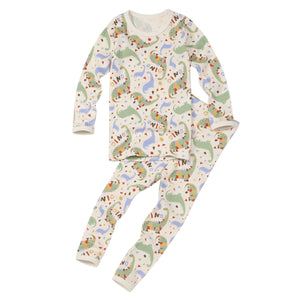 2-Piece Long Sleeve Slim Pajama Set - I'm Dinosaur