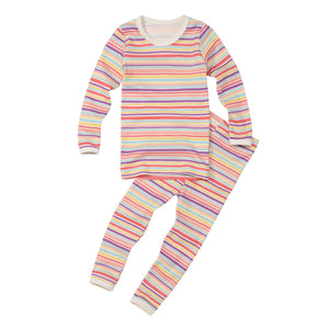 2-Piece Long Sleeve Slim Pajama Set - Princess Stripe