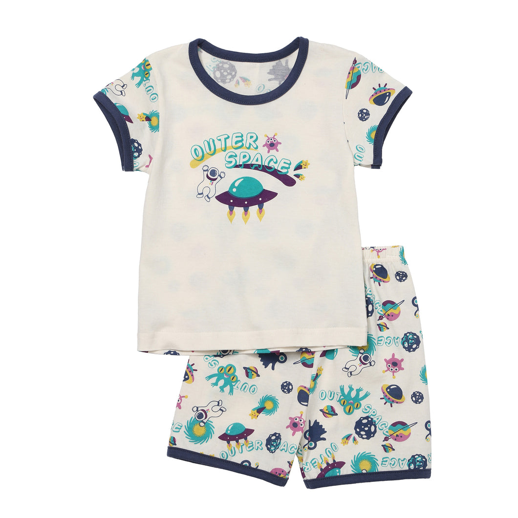 Short Sleeved Pajama Set - Outer Space