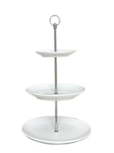 White 3 Tiered Cake Stand