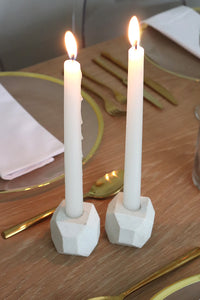 Marble Geometric Candle Holder