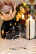 Load image into Gallery viewer, Table Numbers - Clear & White