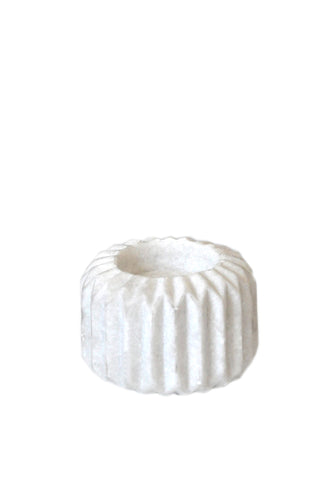 Ribbed Marble Votive