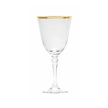 Load image into Gallery viewer, Gold Rimmed Red Wine Glass