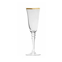Load image into Gallery viewer, Gold Rimmed Champagne Glass