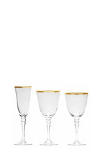 Load image into Gallery viewer, Gold Rimmed Glassware - Full Set