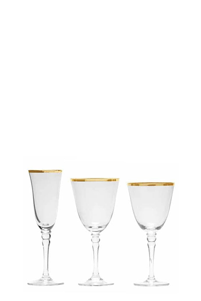 Gold Rimmed Glassware - Full Set