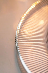 Under Plate - Silver Rimmed Ribbed