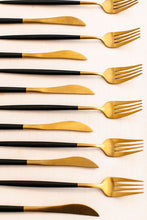 Load image into Gallery viewer, Cutlery - Black & Gold Main Fork