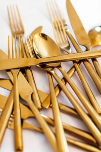 Gold Cutlery - Full Set